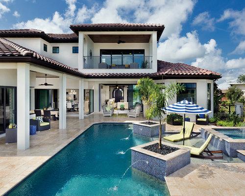 tr s grande piscine m diterran enne photos et id es d co de piscines. Black Bedroom Furniture Sets. Home Design Ideas