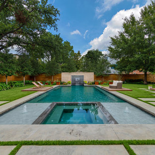 Inspiration for a modern pool remodel in Dallas