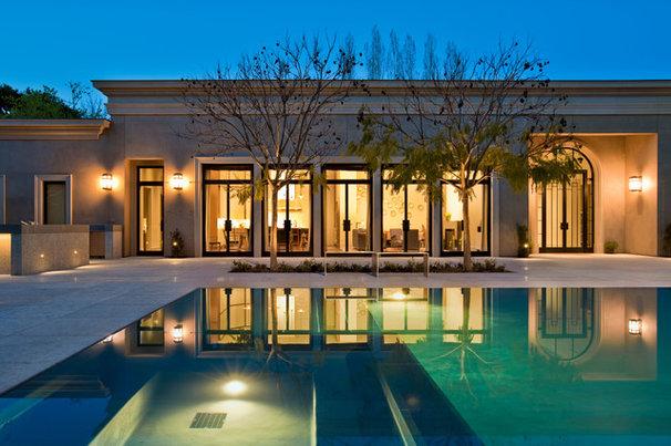 Modern Pool by Peninsula Custom Homes