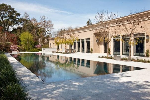 Transitional Pool by Peninsula Custom Homes