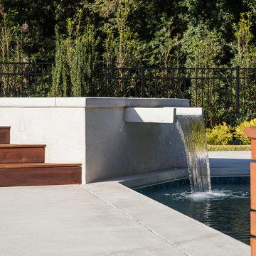 Modern Concrete Spillover Waterfall