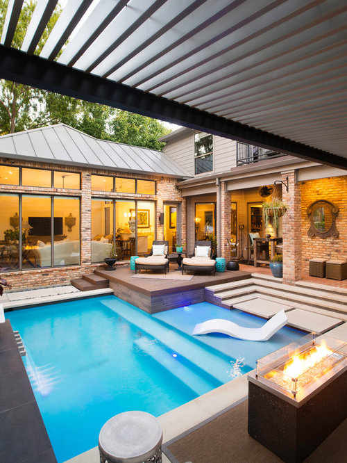 Modern L Shaped Pool Design Ideas Renovations Photos