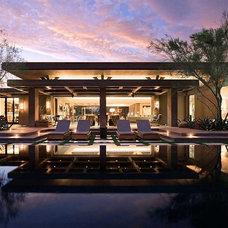 Contemporary Pool by Harte Brownlee & Associates Interior Design