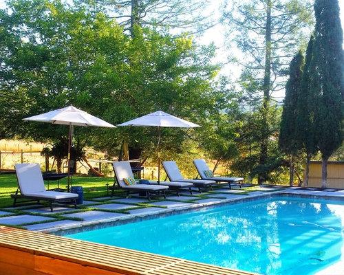 Fotos de piscinas dise os de piscinas de estilo de casa for Casa de campo pequena con piscina