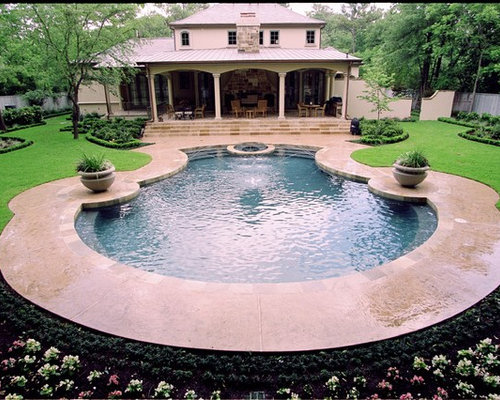 Pool design ideas renovations photos with stamped for Pool design regrets