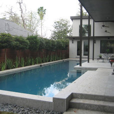 Contemporary Pool by Habitat Stone