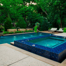 Modern Pool by Original Landscape Concepts Inc