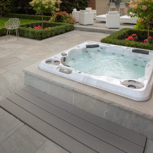 Modern Hot Tub & Cabana Space