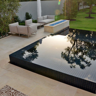 Modern Infinity Edge Pool & Spa