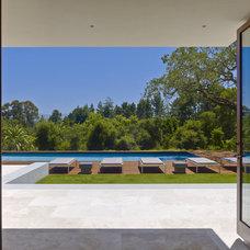 Contemporary Pool by Lencioni Construction