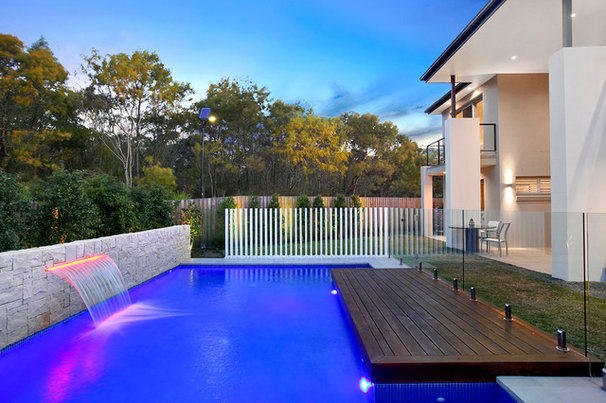 Contemporary Pool by Space Landscape Designs