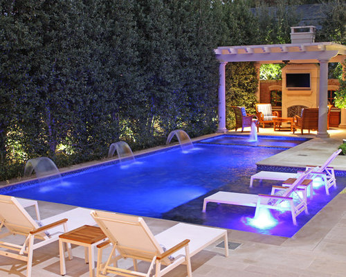 Pool tanning ledge home design ideas pictures remodel for Pool design with tanning ledge