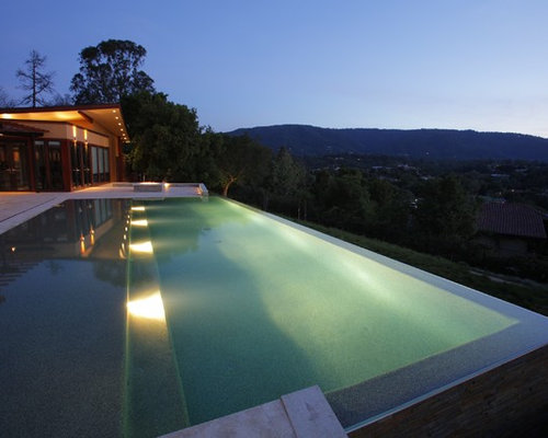 Wet edge home design ideas renovations photos - Swimming pool lighting design ...