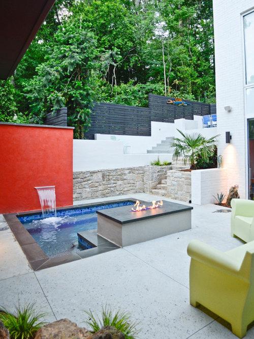 Fotos de piscinas dise os de piscinas peque as con for Piscina rectangular pequena