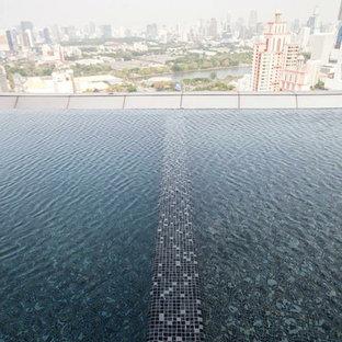 Foto de piscina moderna, grande, a medida, en azotea