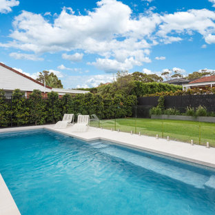 Design ideas for a contemporary rectangular pool in Sydney.