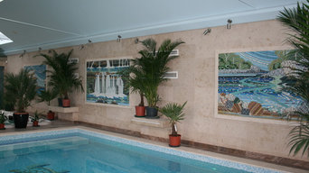 Mosaic installation in private spa Bedfordshire