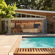 Midcentury Exterior by Cody Anderson Wasney Architects, Inc.