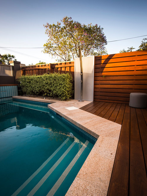Beautiful Front Yard Pools Part - 11: Small Contemporary Front Yard Stone And Rectangular Natural Pool Idea In  Perth