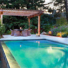 Contemporary Pool by Home Matters LLC