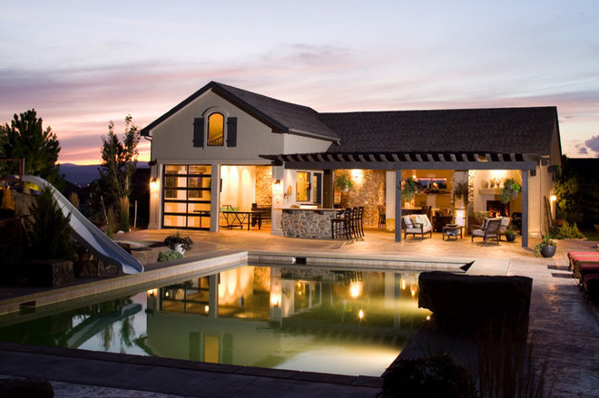 Eclectic Pool by Rentfrow Design, LLC