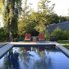 Modern Pool by MTLA- Mark Tessier Landscape Architecture