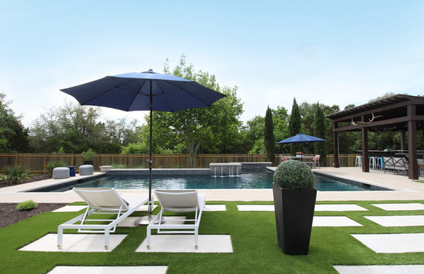 Contemporary Pool by Kristin Laing
