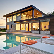 contemporary pool by Andrew Snow Photography