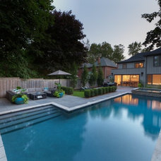 Contemporary Pool by McNeill Photography