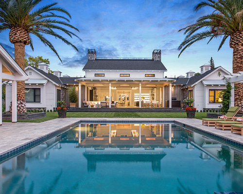 inspiration for a farmhouse pool remodel in san francisco