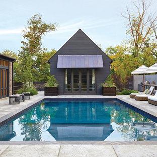 ナッシュビルの長方形トランジショナルスタイルのおしゃれなプールの写真