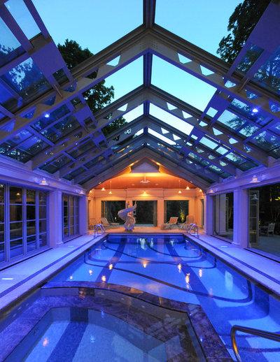 10 superbes piscines d 39 int rieur pour nager jusqu 39 au printemps - Verriere pour piscine ...