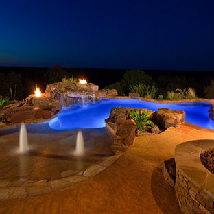 Inspiration for an eclectic pool in Austin.