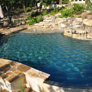 Inspiration for a contemporary pool remodel in Austin