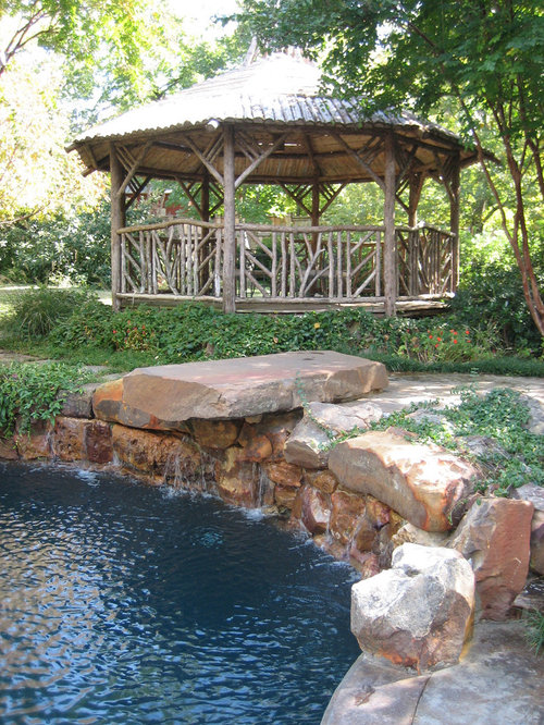 rustic gazebo home design ideas  pictures  remodel and decor