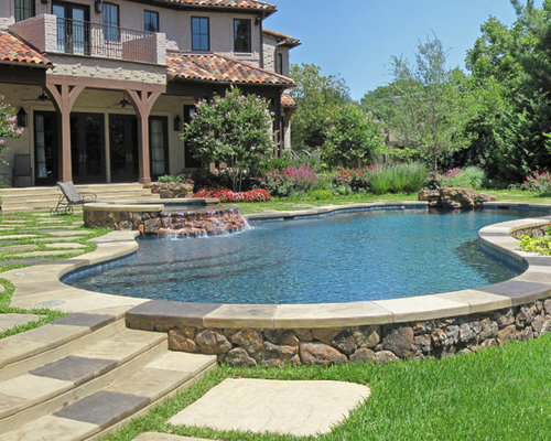 Semi inground pool home design ideas pictures remodel for Inground pool patio ideas