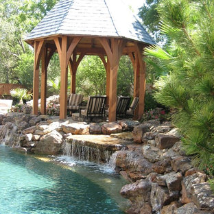 Inspiration for an eclectic pool remodel in Dallas