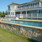 Louvered Poolhouse Beach Style Pool Boston By Ike