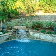 Rustic Pool by Susan Schlenger Landscape Design