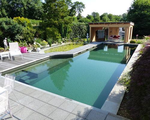 Outdoor gestaltung mit poolhaus klassisch ideen f r - Gartenanlage mit pool ...
