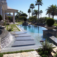 Mediterranean Pool by Neal A Mofhitz Landscape and Design