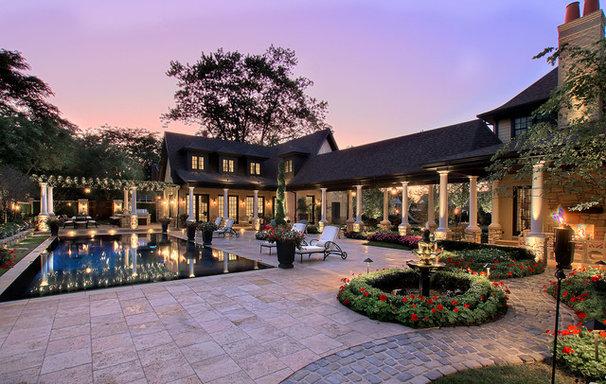 Traditional Pool by Gander Builders
