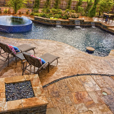 Eclectic Pool by Sam's Outdoor Living