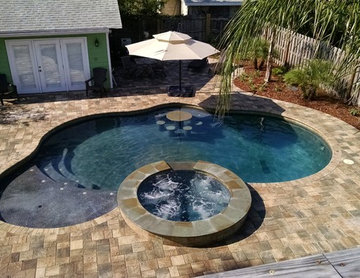 Neptune Beach Party Pool with Spa