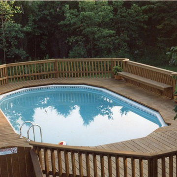 Neshanic deck with built in benches