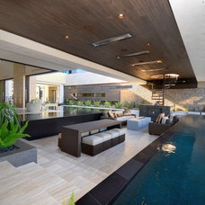 Modern Pool by Ultra-tec Cable Railing by The Cable Connection