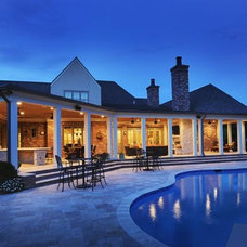 Traditional Pool by Castle Homes