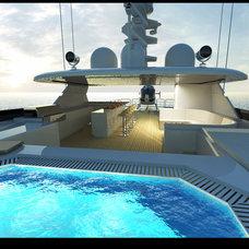 Modern Pool by VARO INTERIOR DESIGN
