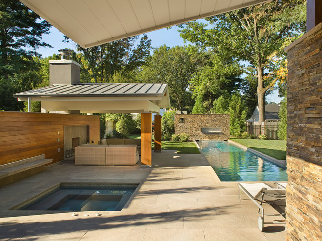 Contemporary Pool by Re|Structure Design-Build, LLC