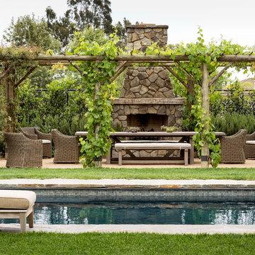 New England Stone Farmhouse in Los Angeles, CA